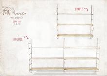 ionic : Pine shelves