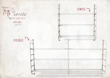 ionic : White shelves