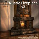 [DDD] Rustic Fireplace v2 - 100% Mesh Rustic Furnishing