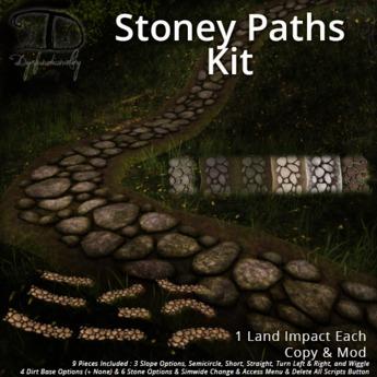[DDD] Stone Path Set - Simwide Texture Change & More