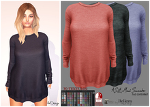 ★ASLA Maxi Sweater 70 Textures!HUD Controlled!#For Mesh Avatar!★