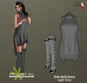 PRECAST Inc. - Side Split Dress - light grey
