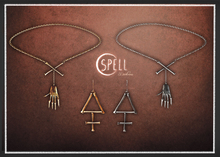 SPELL : Darkness Necklace + Earrings