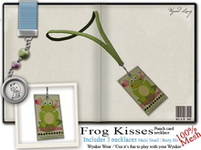 Wynkie Wear [ Necklace ] FrogKisses Punch Card [ Yellow ] (mod/copy)