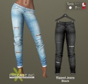 PRECAST Inc. - Ripped Jeans - black