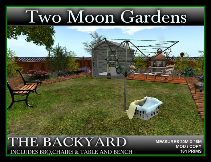 THE BACKYARD* Ready made Garden with over 70 animations. BBQ Grill Included