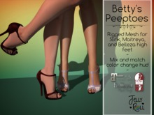 JellyRoll - Betty's Peeptoes Heels for Maitreya, Slink, Belleza with HUD