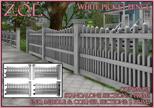 Z.O.E. White Picket Fence
