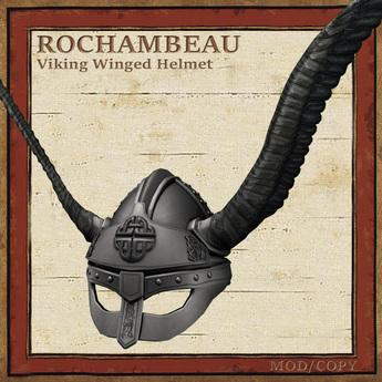 Rochambeau Viking Winged Helmet