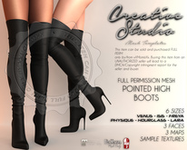 - CREATIVE STUDIO - Pointed High Boots