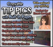 Tipping Pictures with % Split - Online Status, Pager, & Note Give Options! - Picture Tip Jars