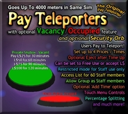 Copyable Pay Teleporters with OCCUPIED/VACANT - Perfect for Private rooms or Skyboxes!