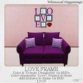 [Home Goods] - LOVE Frame w/ HUD