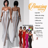 AmAzInNg CrEaTiOnS Bustier Gown Dress 15