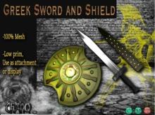 *CRAnQ* Mesh Greek Sword and Shield
