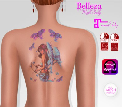 TSB ::: Tattoo girl with wings