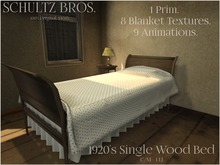 [Schultz Bros.] 1920's Single Wood Bed - BOXED