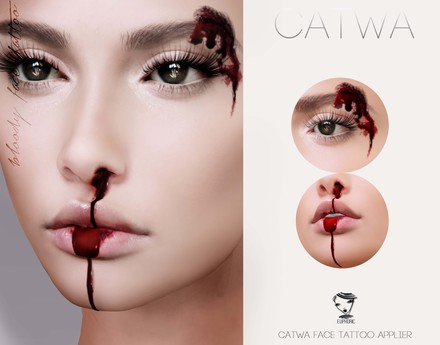 .euphoric ~ Bloody Face Tattoo Applier ~[Catwa]