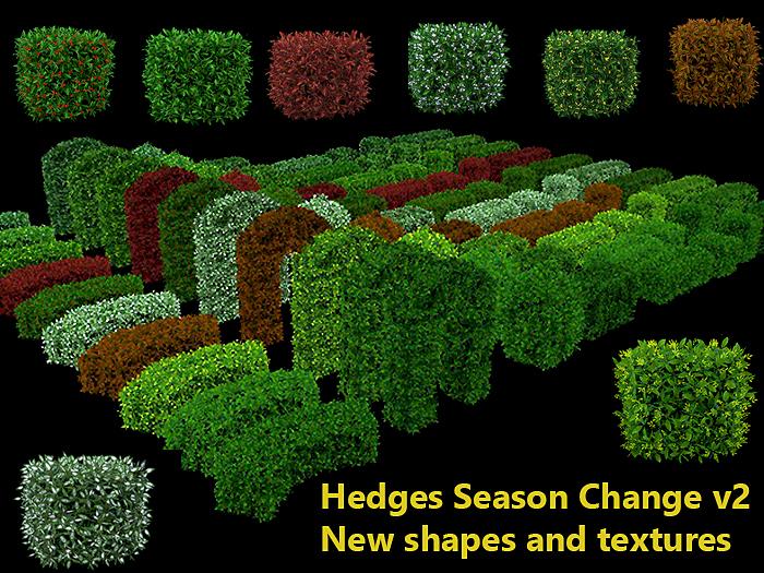 Hedges Pack v2 - Season Change - Mod Copy
