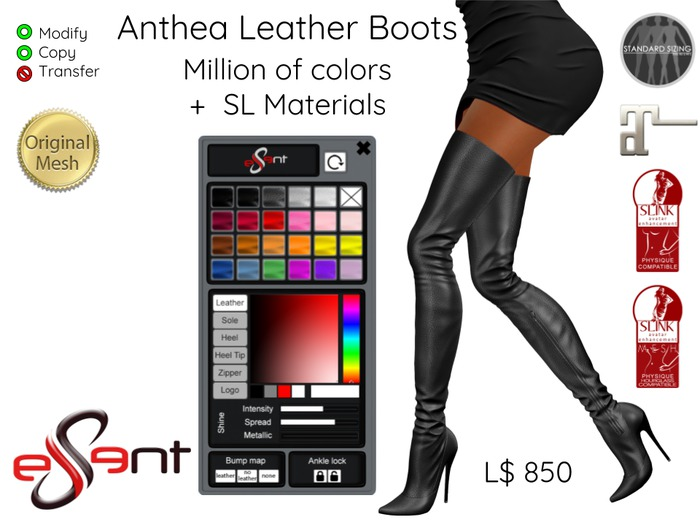 [Essent] Anthea 'Skirt High' Boots Multicolor