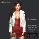 BlackRose Velma Fur Outfit White