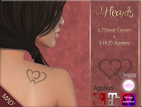 Mad' - 2Hearts Tattoo [Layers + Appliers]