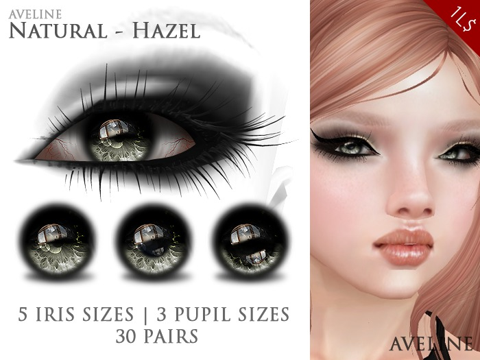AVELINE Mesh Eyes - Natural - Hazel (XS/M/XL Pupil)