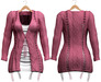 Blueberry - Cutieberry Cardigan Set - Maitreya, Belleza (All), Slink Physique Hourglass - ( Mesh ) Pink