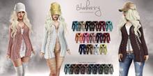 Blueberry - Cutieberry Cardigan Set - Maitreya, Belleza (All), Slink Physique Hourglass - ( Mesh ) Fat Pack