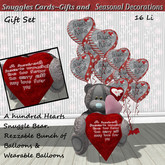 A hundred hearts bear gift set Boxed