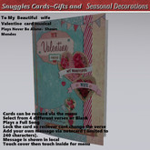 To Beautiful  wife Valentine  card musical