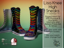 Lisa Knee High Sneaks w/ Huge Texture HUD