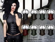 DE Designs - Amanda Halter Corset Shirt - Fatpack