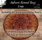 Auburn  Round Rug with & without alpha