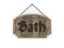 Shabby Chic Bath Sign