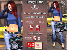 :: FLG NO CABIDE - Emilly Outfit- Diamond Collection ::