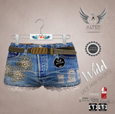::ALTER:: Lace Widel Mini Shorts FITMESH - Sienna