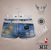 ::ALTER:: Lace Widel Mini Shorts FITMESH - White