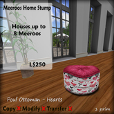Meeroos Home Heart Ottoman Pink V3.0 BOXED L250