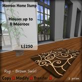 Meeroos Home Rug Brown Spiral V3.0 BOXED L250