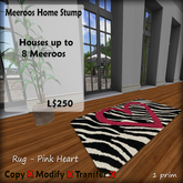 Meeroos Home Heart Rug  V3.0 BOXED L250