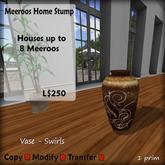 Meeroos Home  Vase - Swirl  V3.0 BOXED L250