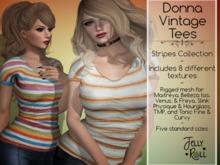 Donna Vintage Tees- 8 Texture HUD Stripes