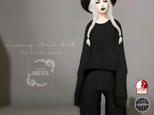 AMRIE - Looong sleeve knit(Black)