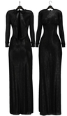 fame femme : Merlin Long Dress - Black