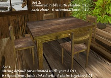 Rustic Table & Chairs 5 or 3 LI