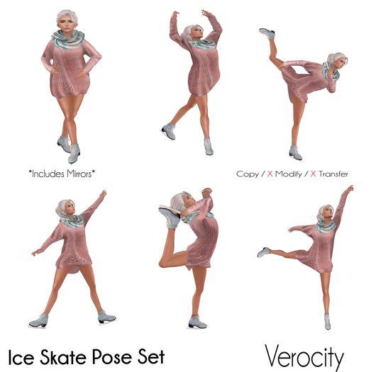 Verocity - Ice Skate Pose Set