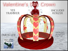 :GG: Valentine's Day Crown. With hearts. Animated. Particles. Yes transfer