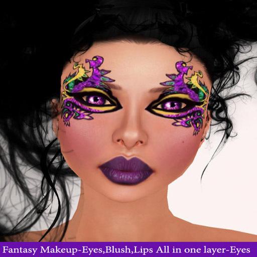 Female Mardi Gras Makeup