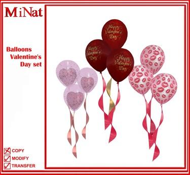 Valentine's Day set balloons